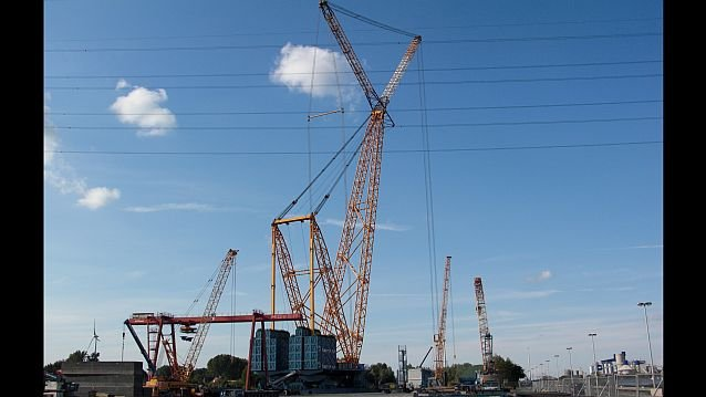 """Big Benny"", la plus grande grue du monde (archives 2011) / © Sarens group"