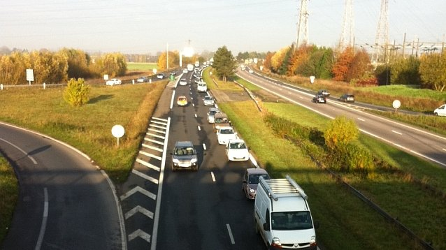 Rouen : deux accidents sur l'autoroute A150, circulation fortement ralentie