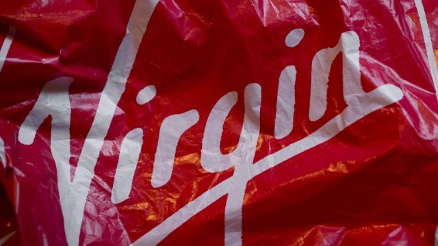 Le logo du groupe Virgin. / © Joël Saget / AFP