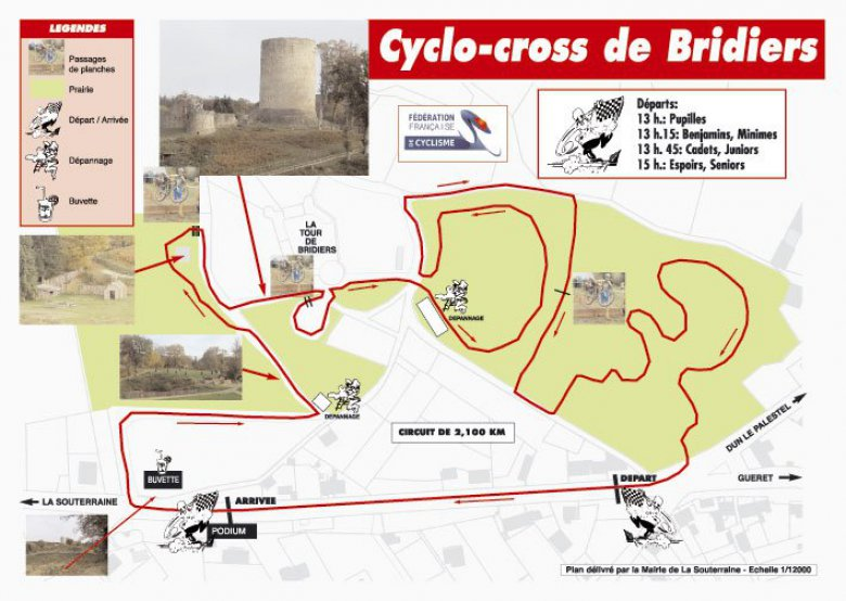 Le circuit du cyclo-cross de Bridiers / ©