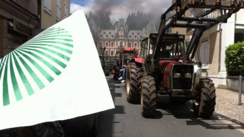 Tulle : importante manifestation d'agriculteurs