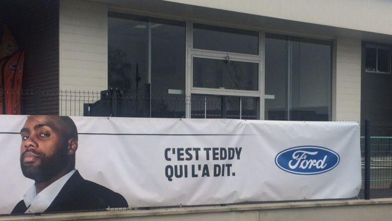 La campagne de communication de Ford avec Teddy Riner / © Candice Olivari - France3 Aquitaine
