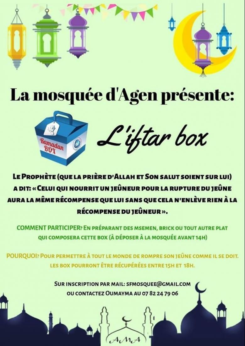 Iftar Box / © Association de la Mosquée d'Agen