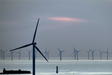 Le parc éolien de NEW BRIGHTON au ROYAUME-UNI / © PAUL ELLIS / AFP