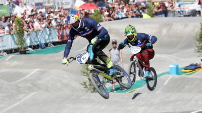 Joris Daudet champion d'Europe de BMX devant son public à Bordeaux
