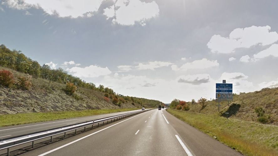 L'accident s'est produit peu avant l'aire de Pech Montat, entre Corrèze et Lot. Photo d'illustration. / © Google street view
