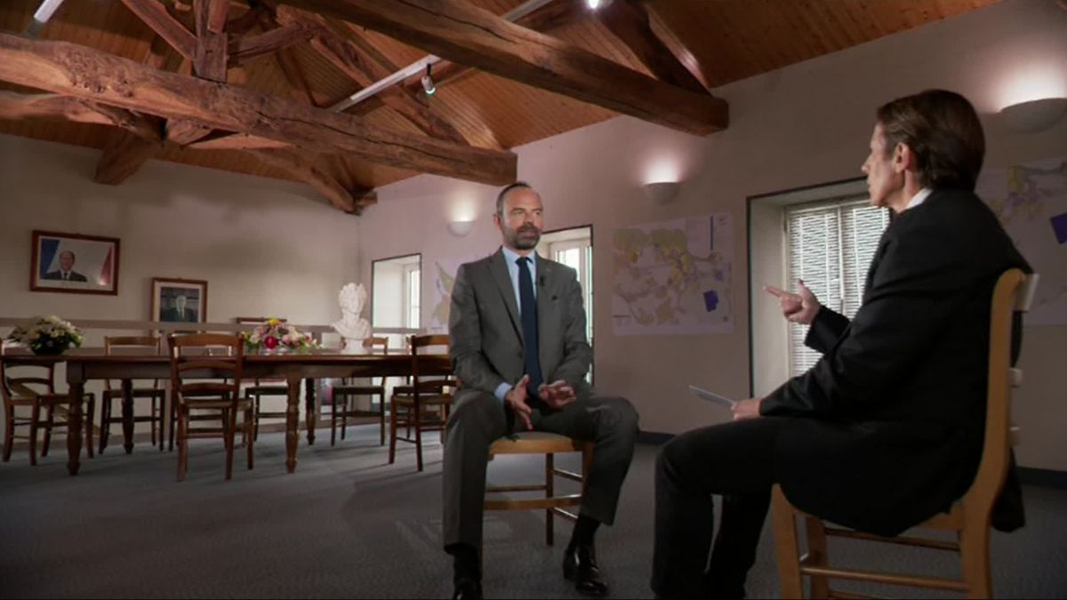 Interview exclusive du Premier ministre Edouard Philippe, en direct de Dirac (Charente). / © France 3 Poitou-Charentes