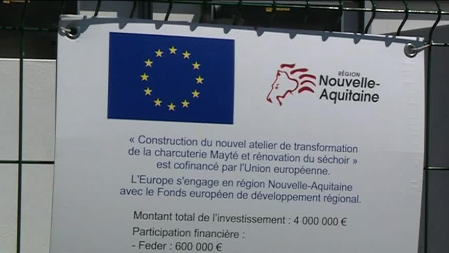 Nouvel atelier de transformation de la charcuterie Mayté co-financé par l'Union Européenne / © France 3 Aquitaine