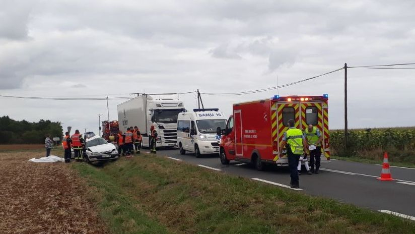 Accident D948 - Limalonge (79) / © Guillaume Soudat - France Télévisions