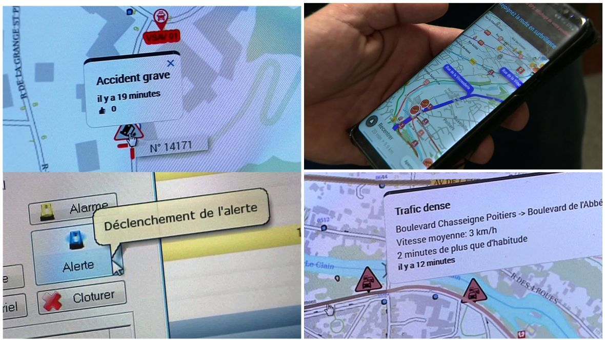 Les pompiers de la Vienne contribuent à l'application WAZE