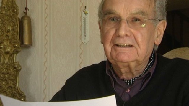 Robert Hébras, survivant du massacre d'Oradour-sur-Glane / © France 3 Limousin