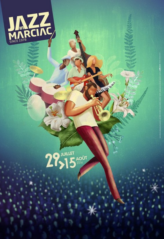 L'affiche de Jazz in Marciac 2016 © Jazz in Marciac