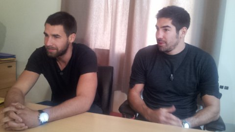 Montpellier : Nikola et Luka Karabatic en interview exclusive avec France 3 Languedoc-Roussillon - 16 octobre 2012. / © F3 LR E.Jubineau
