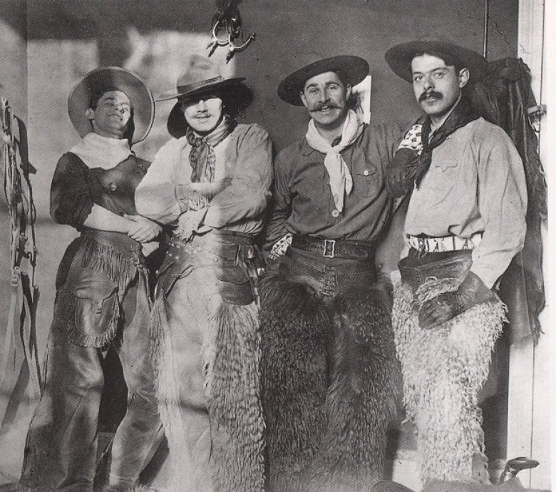 La Blue Star association avec Joë Hamman - 1908 / © Collection privée Jacques Nissou