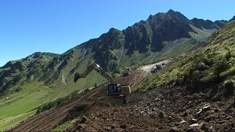 TRavaux au Grand Tourmalet