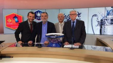 Montpellier - tirage au sort du 6e tour de la Coupe de France de football dans les studios de France 3 Occitanie - 18 octobre 2018. / © F3 LR F.Costet