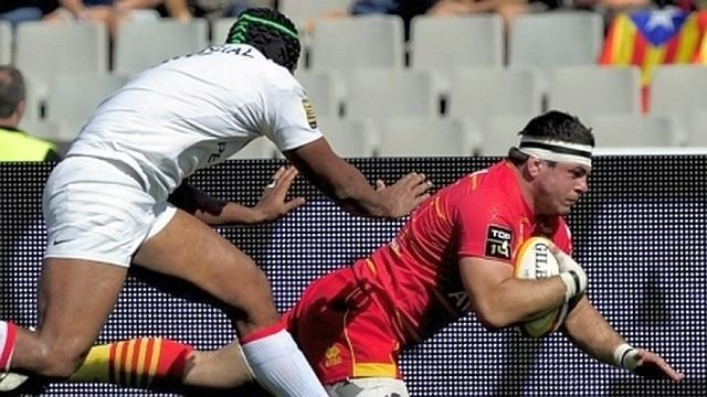 Guilhem Guirado, le talonneur international de l'USAP - archives / © AFP - JOSEP LAGO