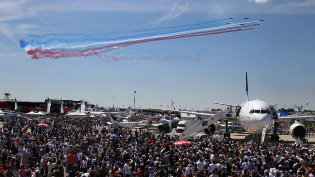 Au salon du Bourget 2015. © AFP PHOTO / PIERRE VERDY