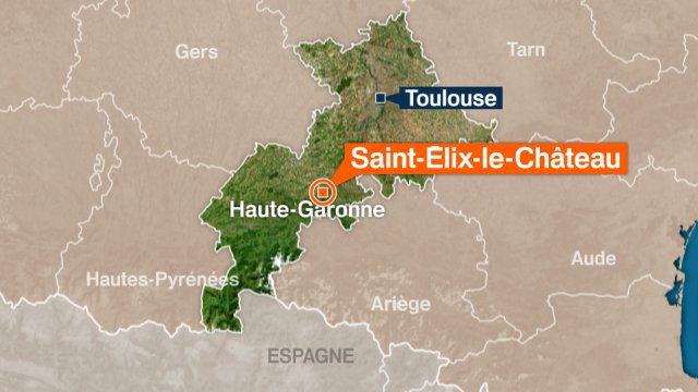 carte saint-elix le chateau