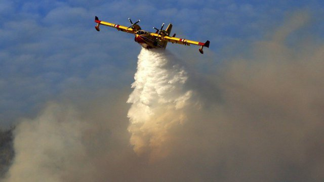 Un canadair en exercice / © Photo AFP