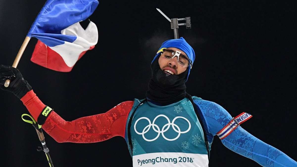 Martin Fourcade champion olympique de la poursuite / © FRANCK FIFE / AFP