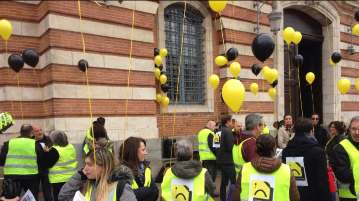 Toulouse Les Salaries En Greve Du Groupe Solocal Ex Pages Jaunes