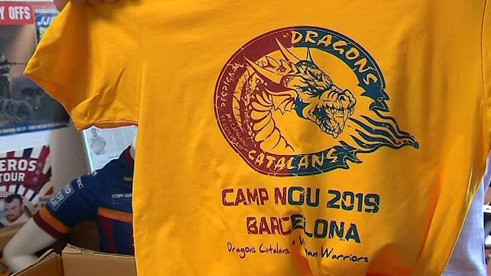 Perpignan - un maillot collector pour le match de Super League à Barcelone - mai 2019. / © F3 LR