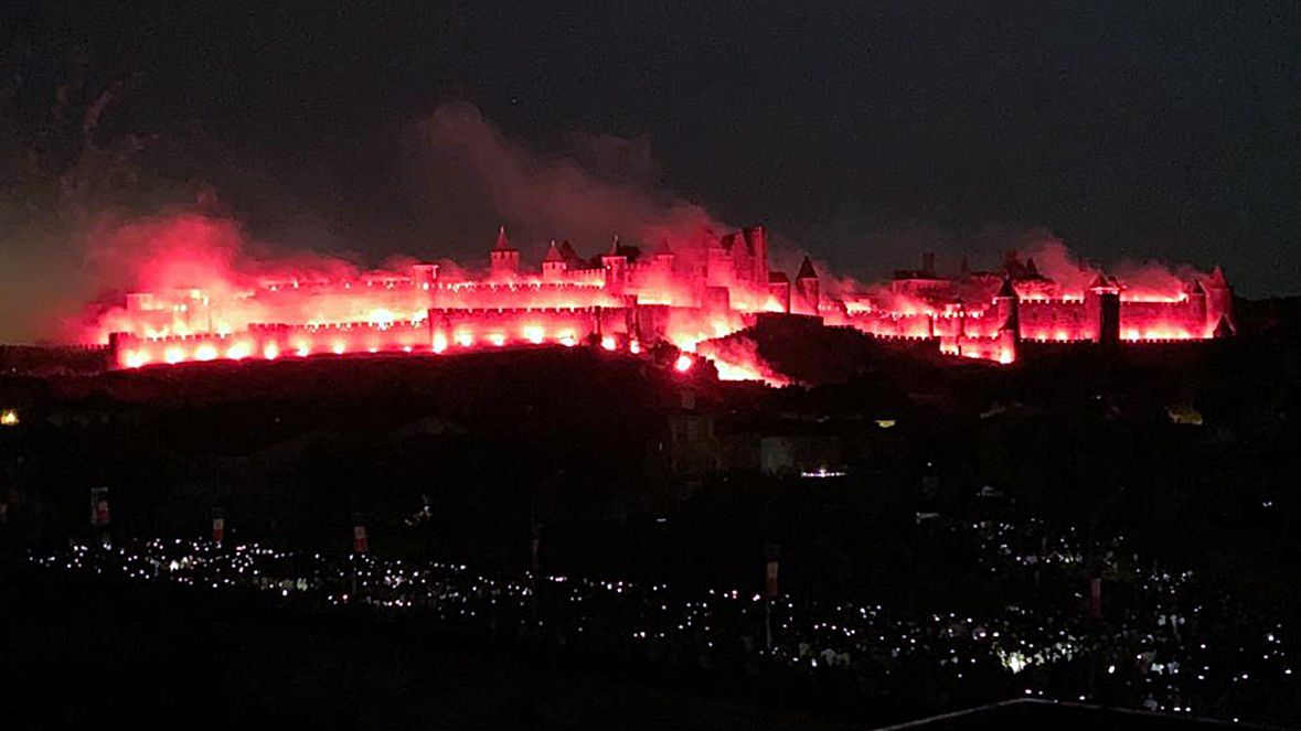 REPLAY VIDEO Le feu d'artifice du 14 juillet de Carcassonne