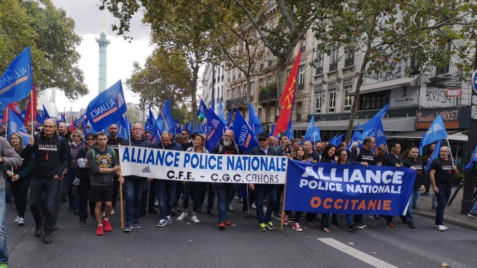Policiers d'Occitanie dans la manifestation nationale du 2 octobre 2019 à Paris / © David Leyraud, Alliance Police Occitanie