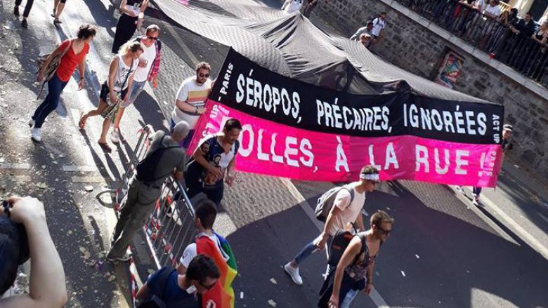 Act Up Paris défile pendant la marche des Fiertés LGBT (Gay Pride), le 24 juin 2017. / © Act Up Paris