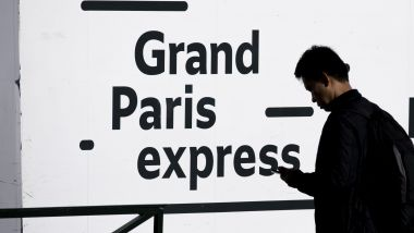 "Un panneau ""Grand Paris express"". / © IP3 PRESS/MAXPPP"