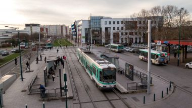 Le tramway T1, en janvier 2016. / © IP3 PRESS/MAXPPP
