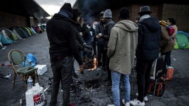 Un camp de migrants à Saint-Denis, près de Paris. / © Christophe ARCHAMBAULT / AFP