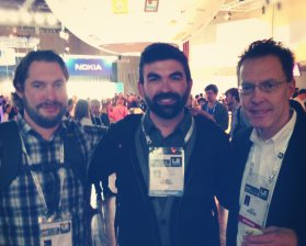 James Stolp, Jeff Hagins et Ben Edwards de la startup SmartThings / ©