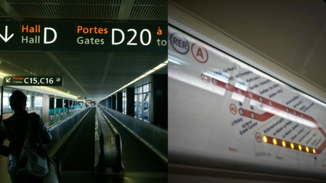 Image d'illustration des transports parisiens : l'aéroport d'Orly et un plan de la ligne A du RER. / © collage photos MAXPPP