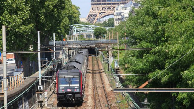 Un train de la ligne RER C à Paris intramuros. / © PHOTOPQR/LE PARISIEN/OLIVIER BOITET