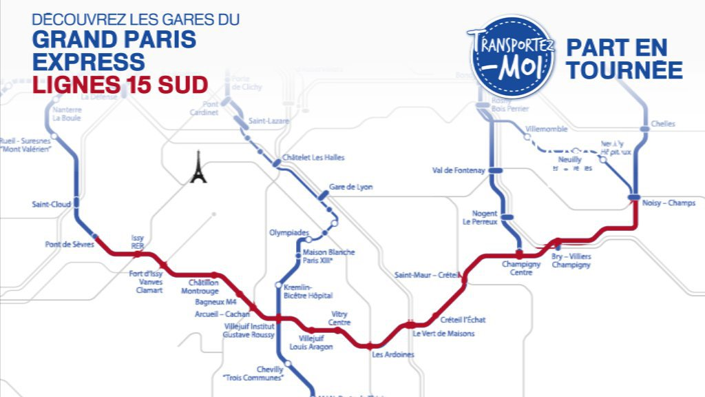 Grand Paris express : à la découverte in situ des 16 futures gares de la ligne 15 sud