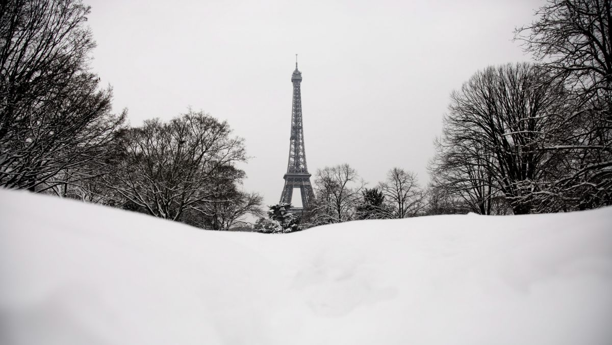 De la neige à Paris, le 8 février 2018. / © IP3 PRESS/MAXPPP
