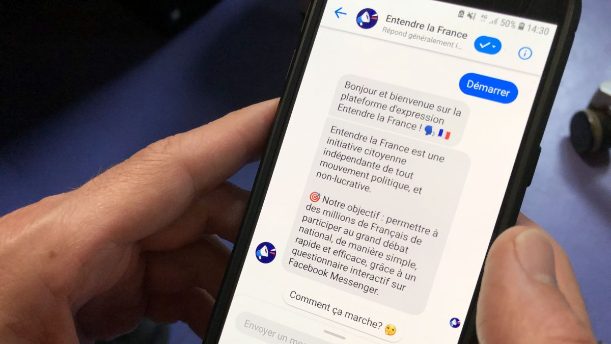 L'application Entendre la France permet d'attirer un population jeune au Grand Débat National. / © MT - France 3 Paris - Île-de-France