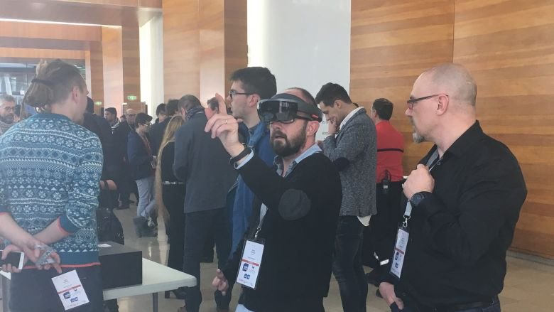 Des exposants à la Maison de la Radio lors des Laval Virtual Days 2017 / © Laval Virtual