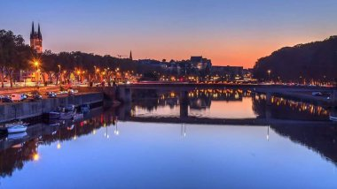 La Maine à Angers le soir / © Anthony Mangeard / cc fb
