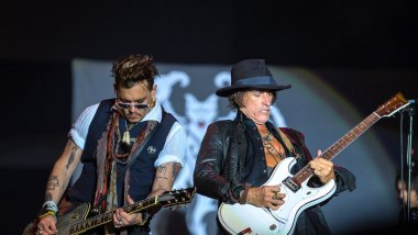 Johnny Depp et Joe Perry des Hollywood Vampires / © MaxPPP - ANDREAS ARNOLD