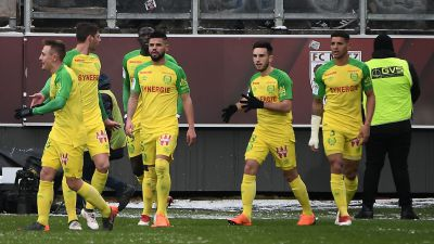 Football Ligue 1 : Nantes à la peine face à Metz