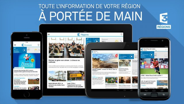 Application mobile France 3 Régions