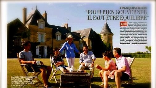 François Fillon justifie ses photos de famille dans Paris Match de son manoir de Solesmes