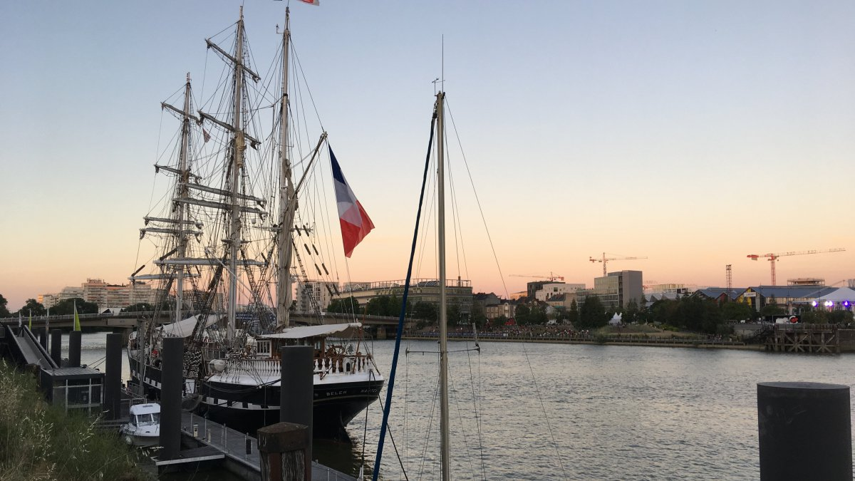 Nantes : en rénovation, le Belem revient à son port d'attache