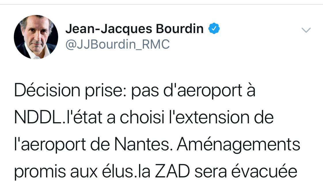 Notre-Dame-des-Landes : le tweet de Jean-Jacques Bourdin qui pose question