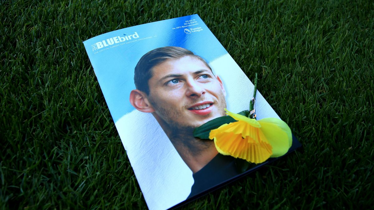Photo d'Emiliano Sala pour illustrer le programme du match Cardiff City - AFC Bournemouth, le le 2 février 2019 / © Mark Kerton, PRESS ASSOCIATION IMAGES/MAXPPP