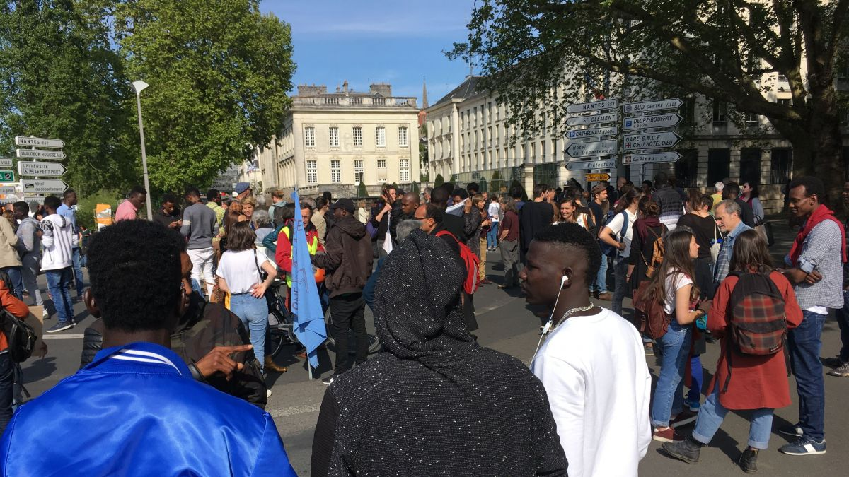 Manifestation des migrants à Nantes, le 30 avril 2019 / © DR