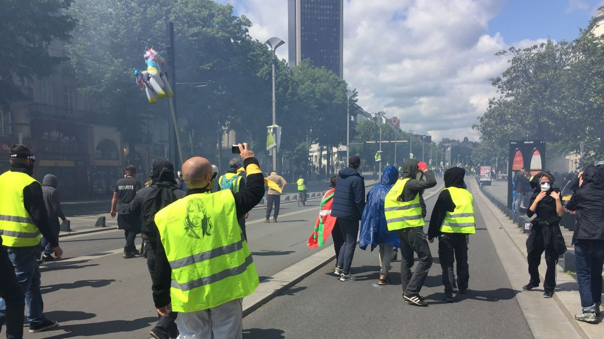 DIRECT. Gilets jaunes à Nantes : 3 000 manifestants et 19 interpellations